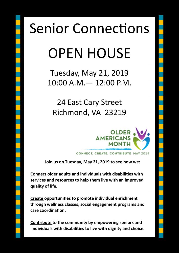 Senior Conections Open House - May 21, 2019